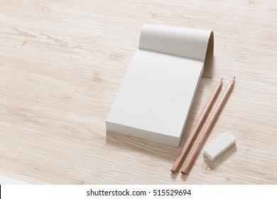 Notes, memo paper, pencil