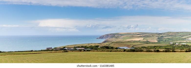 The nothern Pembrokeshire coastline in Wales, UK between Newport and Moylgrove