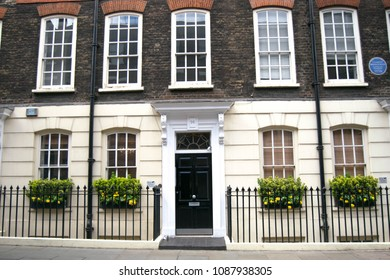 Nothing Hill, London, UK - April 16 2018: a typical english house located in Nothing Hill, London