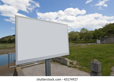 notice bulletin board with empty copy space
