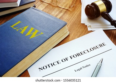 Notice of Foreclosure letter in the court.
