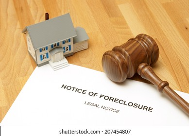 A notice of foreclosure to this unlucky home owner.
