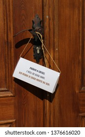 Notice on door I will be back soon