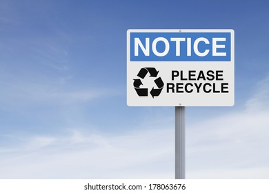 A notice sign with an environmental message