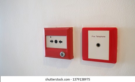 The NOTIFIER called Resettable Manual Call Point and Fire alarm and telephone equipment use warning when on fire for emergency evacuation.