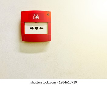 Notifier FireAlarm System on the white wall