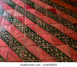 NOTO, SICILY, ITALY, JUNE 16, 2018 : pavement details of church decor, june 16, 2018,  in Noto, sicily, italy