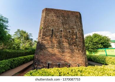 The notorious prison Khuk Khi Kai, historical site landmarks at  Laem Sing Chanthaburi Thailand-April 6, 2019.