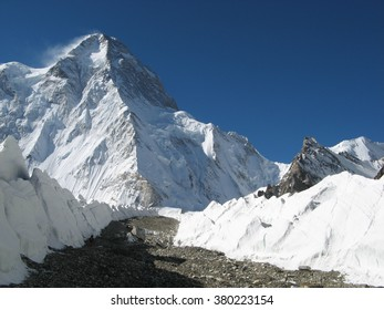 Notorious ridge of K2 from China the second highest mountain of the World after Everest