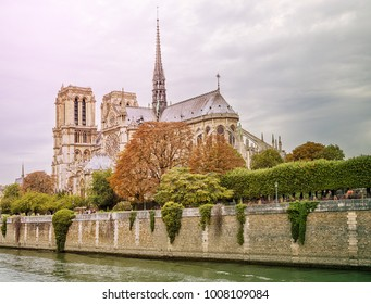 Notre Dame Cathedral is a Catholic church in the center of the city, one of the symbols of the French capital. Paris. France.