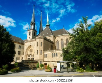 Notre Dame cathedral of Luxemburg City in Luxemburg