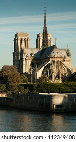 the Notre Dame cathedral in the morning