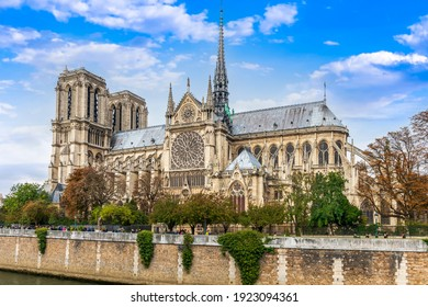 Notre Dame Cathedral on Ile de la Cite in the heart of Paris, France - Shutterstock ID 1923094361