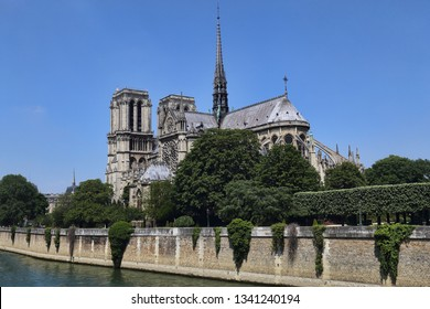 Notre Dame cathedral and other historical buildings in Paris, France