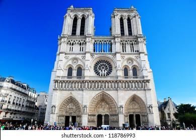 Notre Dame Cathedral, Paris, France. Paris tourist attraction