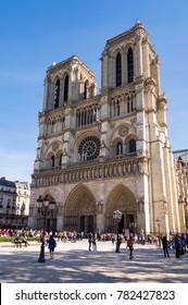 Notre Dame Cathedral in Paris, France, September, 26, 2014