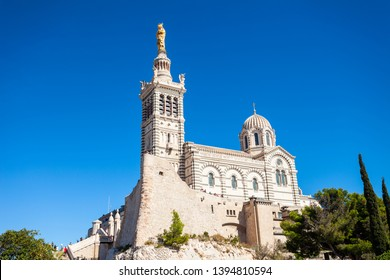 Notre Dame de la Garde or Our Lady of the Guard is a catholic church in Marseille city in France
