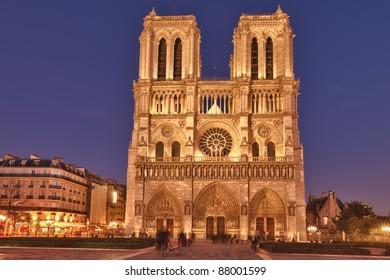 Notre Dame de Paris is a Gothic, Catholic cathedral on the eastern half of the Isle de la Cite in Paris, France