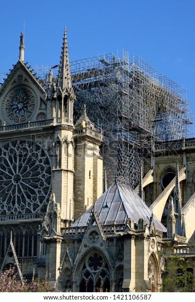Notre Dame De Paris Lincendie Stock Photo Edit Now 1421106587