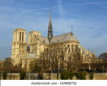 Notre Dame de Paris (Our Lady of Paris) church in Paris France