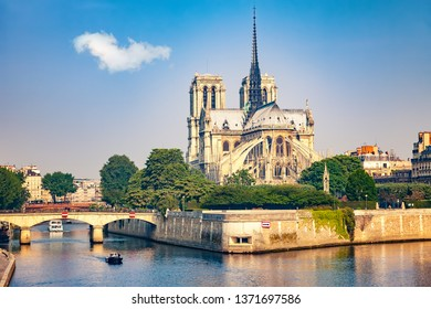 Notre Dame de Paris at spring, France