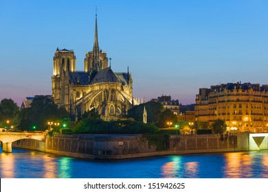Notre Dame de Paris at the summer night