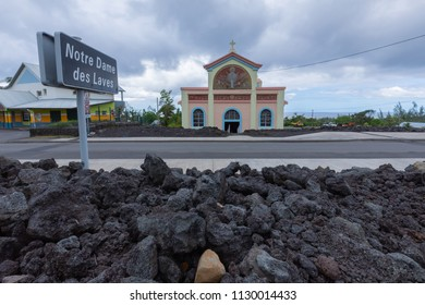 Notre Dame des Laves church in Sainte-Rose, Reunion Island