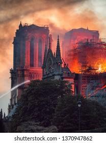 Notre Dame Fire in Paris