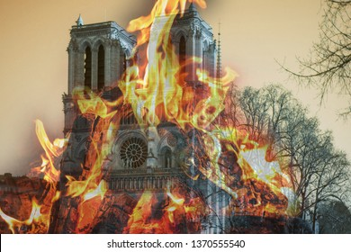 Notre Dame fire. Paris cathedral devastated by blaze.