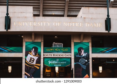 Notre Dame, Indiana USA - 01/01/2019: NHL Winter Classic Game Day Photos Chicago Blackhawks vs. Boston Bruins