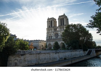 Notre Dame in Paris in the morning, France, 05.07.2018
