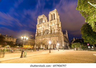 Notre Dame in Paris at Night