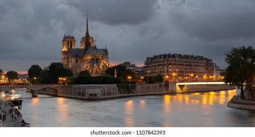 Notre Dame and Seine, Paris, Europe