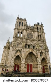 Notre-Dame Cathedral of Amiens, France, front view