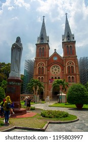 Notre-Dame Cathedral Basilica of Saigon on April 30,2018 in Ho Chi Minh,Vietnam.