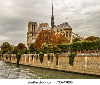 Notre-Dame Cathedral is a Catholic church in the center of Paris on the island of Cité, one of the symbols of the French capital. Paris. France.