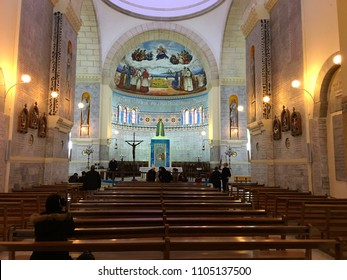 Notre-Dame d'Afrique Basilica, Algiers, Algeria - March 30, 2018: Inside the old basilica.