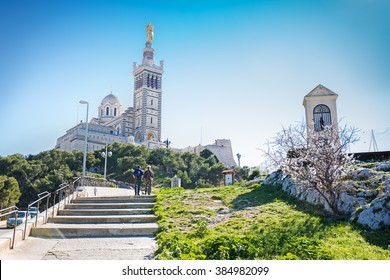 Notre-Dame de la Garde (Our Lady of the Guard), a Catholic basilica in Marseille, France