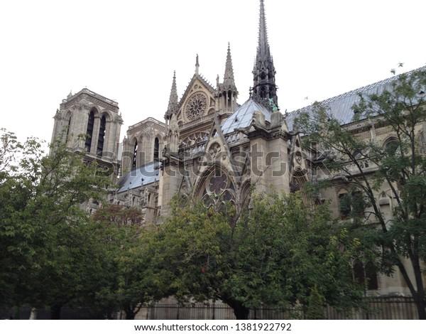 Notredame De Paris Before Fire Stock Photo Edit Now 1381922792