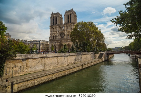 Notre-Dame de Paris,  French Gothic architecture, Romanesque architecture, As the cathedral of the Archdiocese of Paris, Notre-Dame. Paris, France