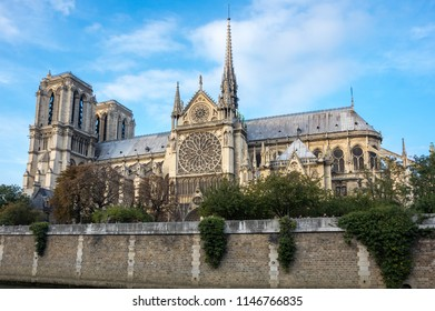 """Notre-Dame de Paris (French for """"Our Lady of Paris"""") is a medieval Catholic cathedral on the Cite Island in Paris, France"""