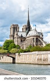 Notre-Dame de Paris on the Ile de la Cite - France.