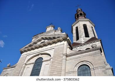 Notre-Dame de Quebec Cathedral, Old Quebec City, Quebec, Canada. Old Quebec City is a UNESCO World Heritage Site.