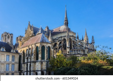 Notre-Dame de Reims cathedral (Our Lady of Reims, 1275), Reims, Champagne-ardenne, France. It is the seat of the Archdiocese of Reims, where the kings of France were crowned.