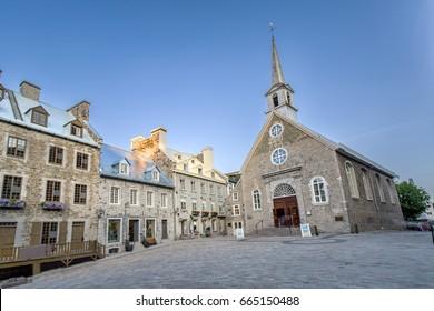 Notre-Dame-des-Victoires Church in Quebec