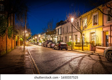 Notting Hill in the night, London, UK