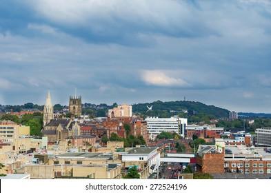Nottingham city, England, Uk.