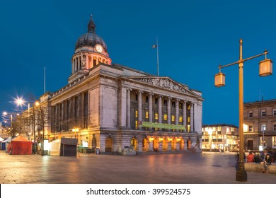 Nottingham Council House side shot at Twilight