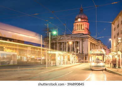 Nottingham Council House with Tram shot at Twilight