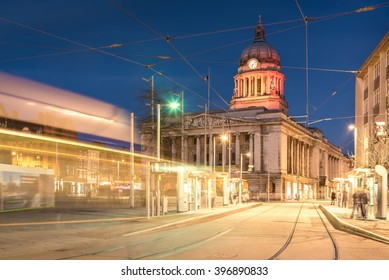 Nottingham Council House without Tram shot at Twilight